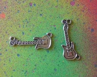 10 Electric Guitar Connector String Music Charm Pendants For Jewelry Making
