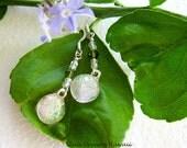 Fused Glass Drop Earrings...