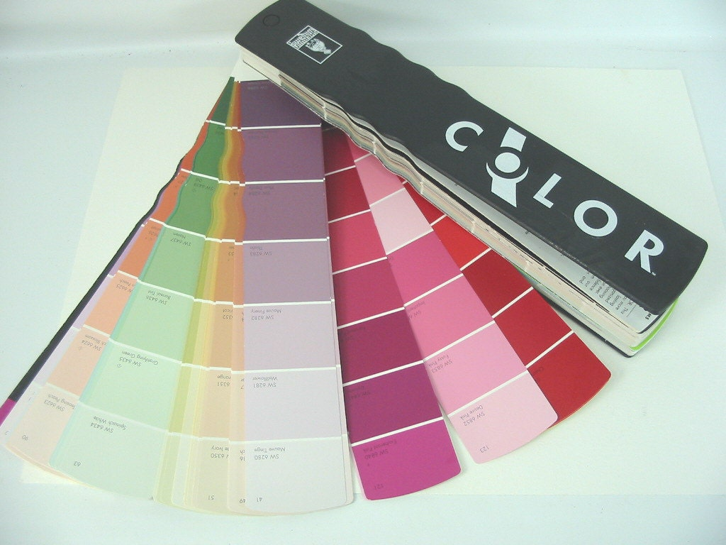paint sample fan book sherwin williams color samples painting. Black Bedroom Furniture Sets. Home Design Ideas
