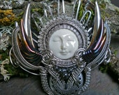 Gothic Steampunk Angel Queen of the Night Necklace