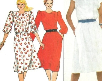 1970s Dress Pattern Vintage Butterick Sewing Loose Fit Fast Easy Women's Misses Size 18 Bust 40 Inches