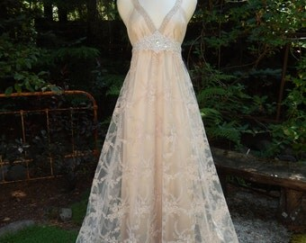 Rose Marie- Custom Made Wedding Dress-CRBoggs Original Design-Silk charmeuse Base with Embroidered lace