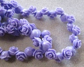 Drilled Purple Resin Ruffled Rose Flower Beads with Hole Small Choose Your Colors 11mm 924D