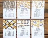 2016 Letterpress Calendar *Refill*