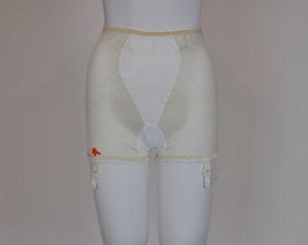 1950's panties /  Net Worth Vintage 50's Fishnet Panties with Garters