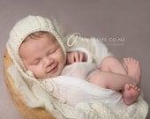 Download Now - CROCHET PATTERN HRH Baby Bonnet - Sizes 0-3 mos to 12-24 mos - Pattern pdf