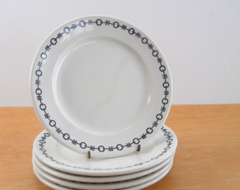 Vintage Restaurant Ware Plates • Scammell's Trenton China • Laurel Wreath and Bows