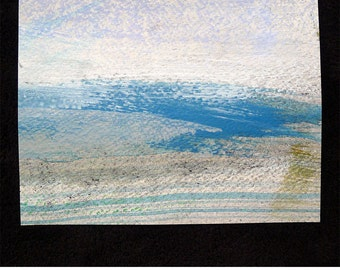 Original Mixed Media Waterscape, #101 of 101 Lake Series 2013