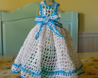 Crocheted Pinafore Dishcloth Pattern