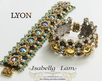 LYON Triangles Rivoli and SuperDuo Bracelet tutorial Pdf for personal use only