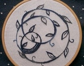Swirls and vine embroidery