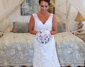 Pink / Blush Wedding Bouquet made with sola flowers - choose colors - bridal bouquet - Alternative bouquet - bridesmaids bouquet