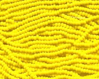 Czech Seed Beads 6/0 Opaque Yellow 31707 , Glass Seed Beads, Size 6/0 Seed Beads, Jablonex Seed Bead, 4mm Seed Beads, Preciosia