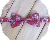 Retro Floral Bow Tie >> Father Son Mens Boys Fathers Day Prom Graduation Wedding Spring Gift Flowers Red Pink Blue Green Vintage Groomsmen