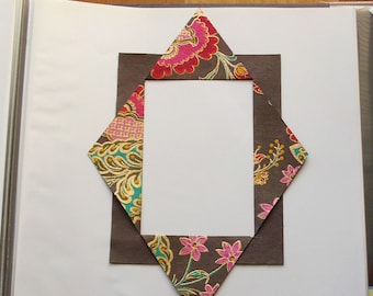 altered book objects - photo frame - chocolate floral with gold accents