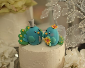 peacock wedding cake topper (K305)