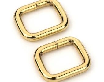 """100pcs - 5/8"""" Metal Square Ring - Gold (SQUARE RING SRG-152)"""