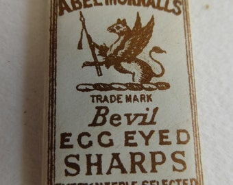 Antique Abel Morrall's Griffan Brand Egg Eyed No. 7 Sharps