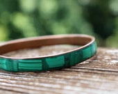 Genuine Malachite Bangle Bracelet