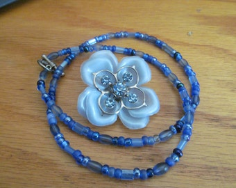 Light blue with cobalt