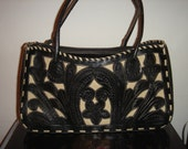 Classic Hand Tooled Leather shoulder bag by Leaders in Leather, Paraguay