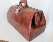 Leather Doctors Bag Weekender Overnight Travel Bag Vintage Man Holiday Carry On Case Sports Duffel Salesmans Sample Luggage Suitcase