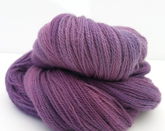 Hand-dyed Tonal Laceweight Yarn: Rosy Plum