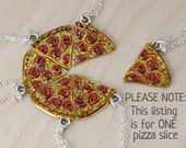 Pizza by the Slice - ONE Necklace - Best Friend Necklace -SOLD SINGLY-