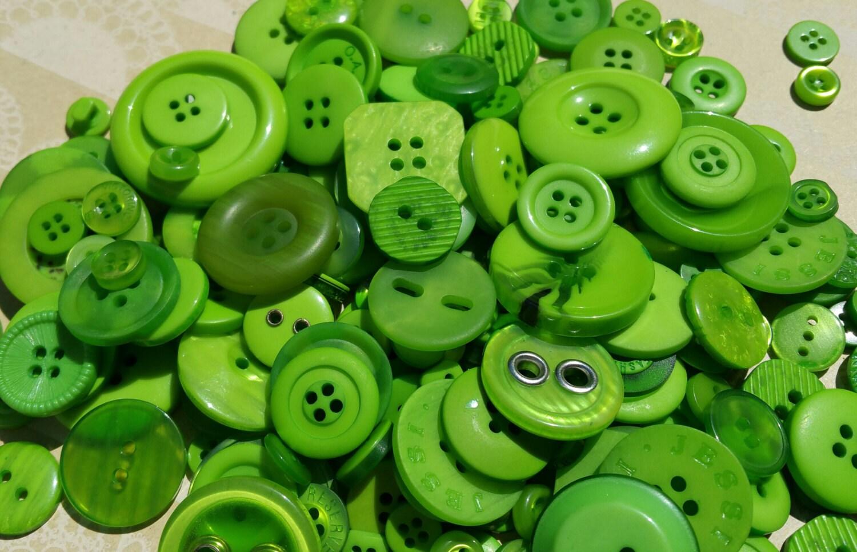 Green buttons bulk button bright green sewing crafting - Green button ...
