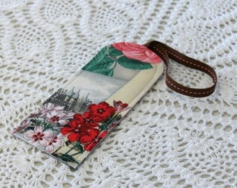 Postcard & Roses - Luggage Tag