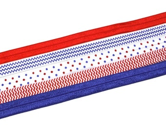 50% OFF Red White and Blue Interchangeable Headbands