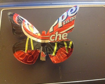 Cute butterfly deco .. Dr Pepper recycled art!