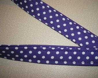 Badge ID Holder . Fabric Lanyard . Lanyard . Snap . Polkadots . Purple