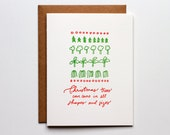 Trees Come In All Sizes - Letterpress Holiday Card - CH235