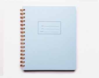 The Standard Sketch Notebook - letterpressed Pool cover notebook with blank interior pages