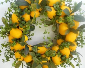 Lemon Wreath.....