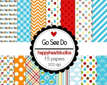 Digital Scrapbook  GoSeeDo-INSTANT DOWNLOAD