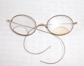Clearance Antique Edwardian Oval Framed Wire Rimmed Eyeglasses