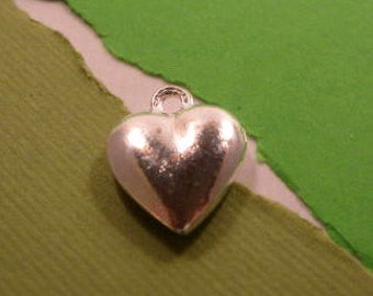 Nunn Design Large Puffy Heart Charm in Sterling Silver Plating