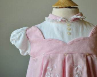 1960s Knit Pinafore Dress~Size 6 Months