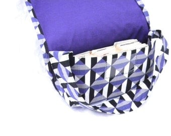 Mega Large Coupon Holder Organizer Purple and Black Geometric