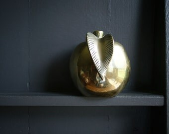 Brass Apple Paperweight for the Teacher Back to School in the Fall