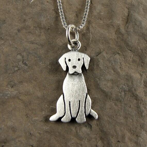 Tiny Labrador Retriever Necklace Pendant By Stickmanjewelry