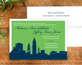 Cleveland Skyline Wedding Invitation