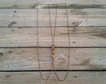 wooden hibiscus & tiger's eye body chain // nickel free jewelry // body chain jewelry // unique handmade jewelry // HEY102