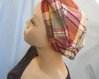SALE - Plaid Beret (4386)