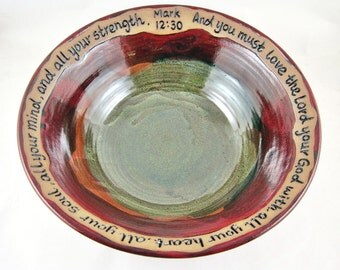 Pottery Wedding Gift - Anniversary, Commitment Ceremony - IN STOCK WB027A