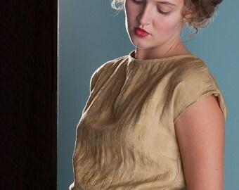SALE - Button-back Blouse - 'Gold Dust' Blouse