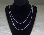 """Two 22"""" Sterling Silver Figaro 2MM Chains"""