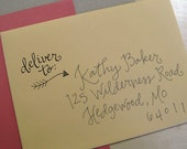 Deliver To Handwritten Stamp